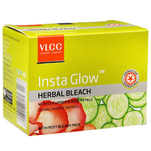 VLCC Insta Glow Herbal Bleach Cream 27 gm  with free shipping