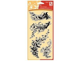 Inkadinkado Halloween Trails Clear Cling Stamp Set, Includes 4 Stamps #98548 - $11.99