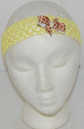 Unbranded Girl Infant Toddler Headband Removable Hair Bow Giraffe Print