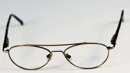 Fossil INTRUDER Brush Brown Metal Eyeglass Frames Designer Style Rx Eyewear - $9.12