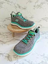 Skechers Womens Flex Appeal Next Generation 11883 Gray Running Shoes Size US 8 - $29.69