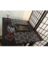 6 Clear Black Frost Home Dining Table Placemats Coaster Set Holiday Cybe... - $10.88
