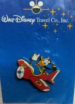 Walt Disney Travel Co Pin Donald flying in red airplane 2001 Rare sealed 6089 - $11.83