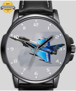 Eurofighter Typhoon Military Fighter Jet Unique Beautiful Wrist Watch Fa... - $54.00