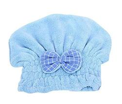 Hair Drying Towels/Shower Caps Microfiber Hair TowelWipe Hair Cap,Blue