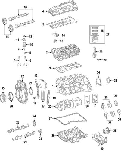 Genuine Mercedes-Benz Camshaft Gear 651-052-00-00