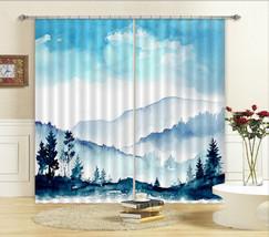 3D Hazy Mountain Blockout Photo Curtain Printing Curtain Drapes Fabric Window CA - $147.54+