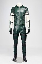 Green Arrow Season 4 Oliver Queen Cosplay Costume Adult Male Halloween Outfit - $148.00