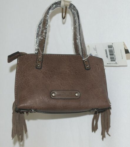 Simply Noelle HB209AG Brown Mommy and Me Collection Childs Fringe Small Purse