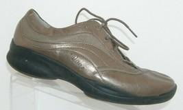Clarks In-Motion bronze metallic leather lace up comfort walking sneaker... - $33.30