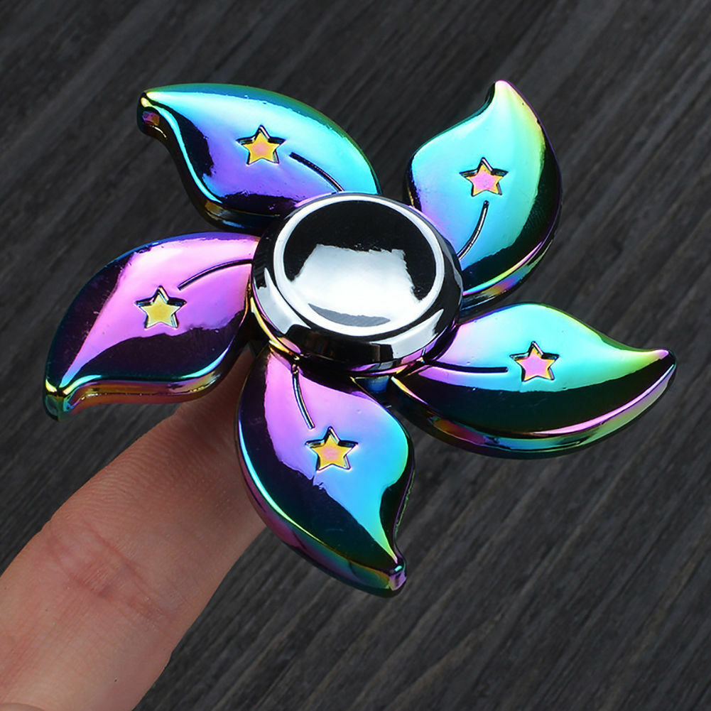 Rainbow Bauhinia Flower Fidget Toy - One Item w/Random Color and Design