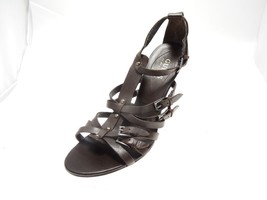 Guess by Marciano Brown Leather Strappy Open Toe Sandals Studs & Buckles Sz 8.5M - $14.49