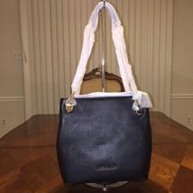 NWT Michael Kors Jet Set Medium Leather Shoulder Bag in Black - $163.26