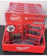 Milwaukee Shockwave Drill and Driver Bit Set 40 Pieces Pack of 5 48-32-4006 - $158.40