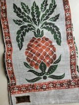 Vintage Kay Dee Pineapples Linen Tea Towel Country Primitives New Old Stock - $18.76
