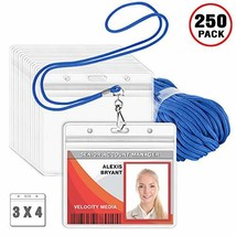 MIFFLIN Lanyard with Clear Horizontal ID Holder, Name Tag with Lanyard S... - $77.69