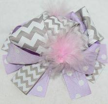 Unbranded Infant Toddler Purple Hat Stretch Removable Bow Multicolor image 7