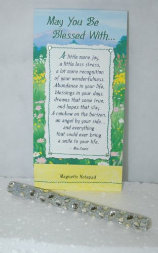 Blue Mountain Arts NP357 Magnetic Notepad Pen Set May You Be Blessed