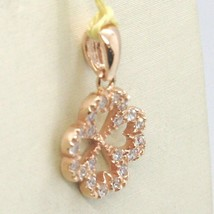 Pendant Rose Gold 750 18K, Four-Leaf With Zircon image 2
