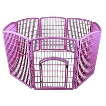 Dog Pet Playpen Pink Plastic Puppy Gate Inclosu... - $96.50