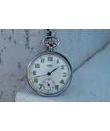 Antique Vintage Old Army Swiss B.W.C. Mens Pocket Watch Art Deko - $204.93