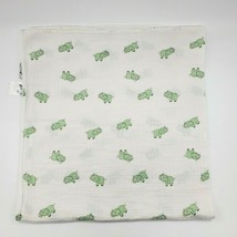 ADEN + ANAIS White Green Elephant Baby Blanket Muslin Swaddle Security B350 - $14.99