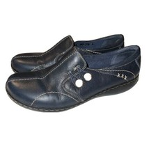 Clarks Unloop 61633 Black Leather Slip On Comfort Casual Womens Shoes Sz 9M - $23.27