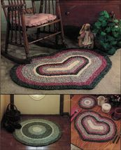Crochet Fabric Oval Hexagon Heart Rugs Place Mats Coaster Hot Pad Napkin Pattern - $12.99