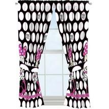 "Disney Minnie Mouse Window Panels (2) Curtains W/ Tie Backs 42"" X 63"" NEW - $24.20"