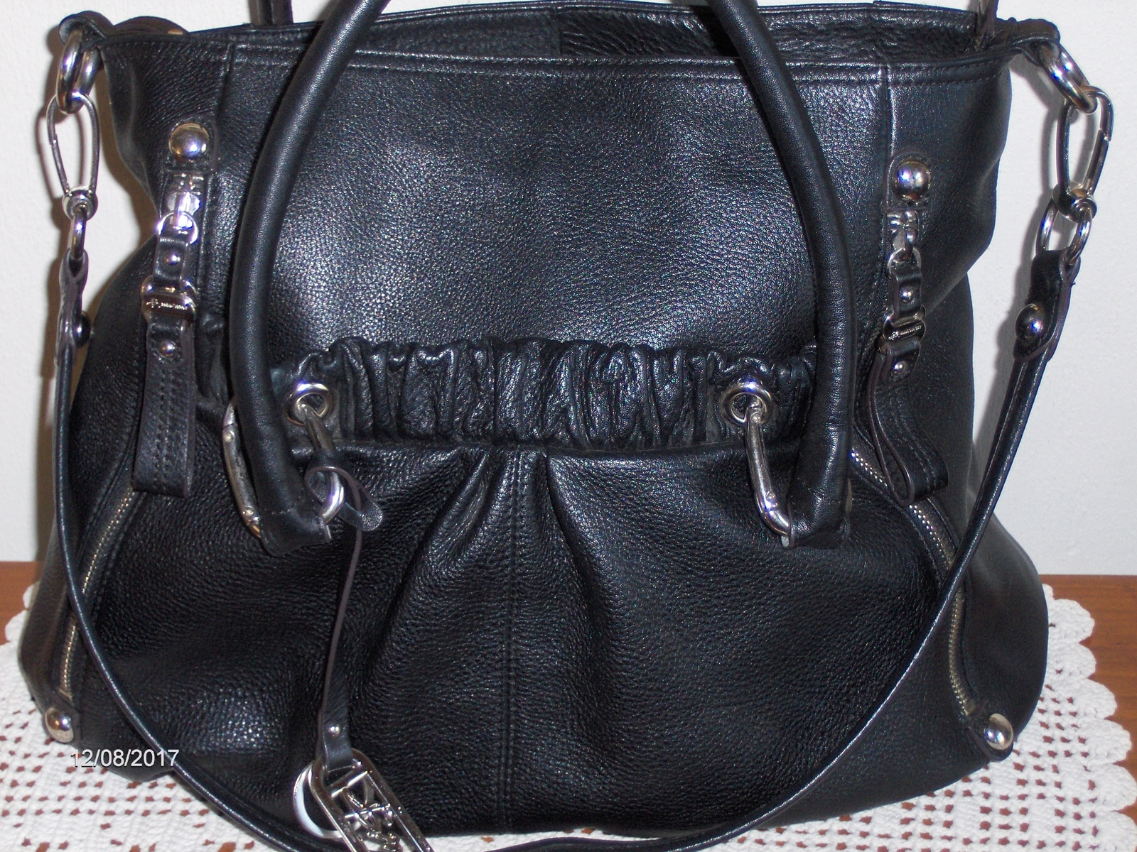 2251cff6ab3a44 B. Makowsky Satchel Shoulder Handbag Black and 50 similar items