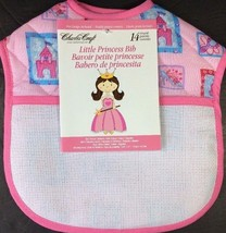 Pink Princess Quilted Cross Stitch Bib Baby Girl Queen Charles Craft 9x9... - $8.79