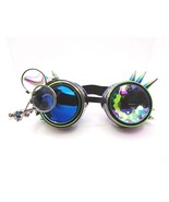 Steampunk Goggles rainbow coloreful vintage Rave Led spike Glasses Steam... - $23.99
