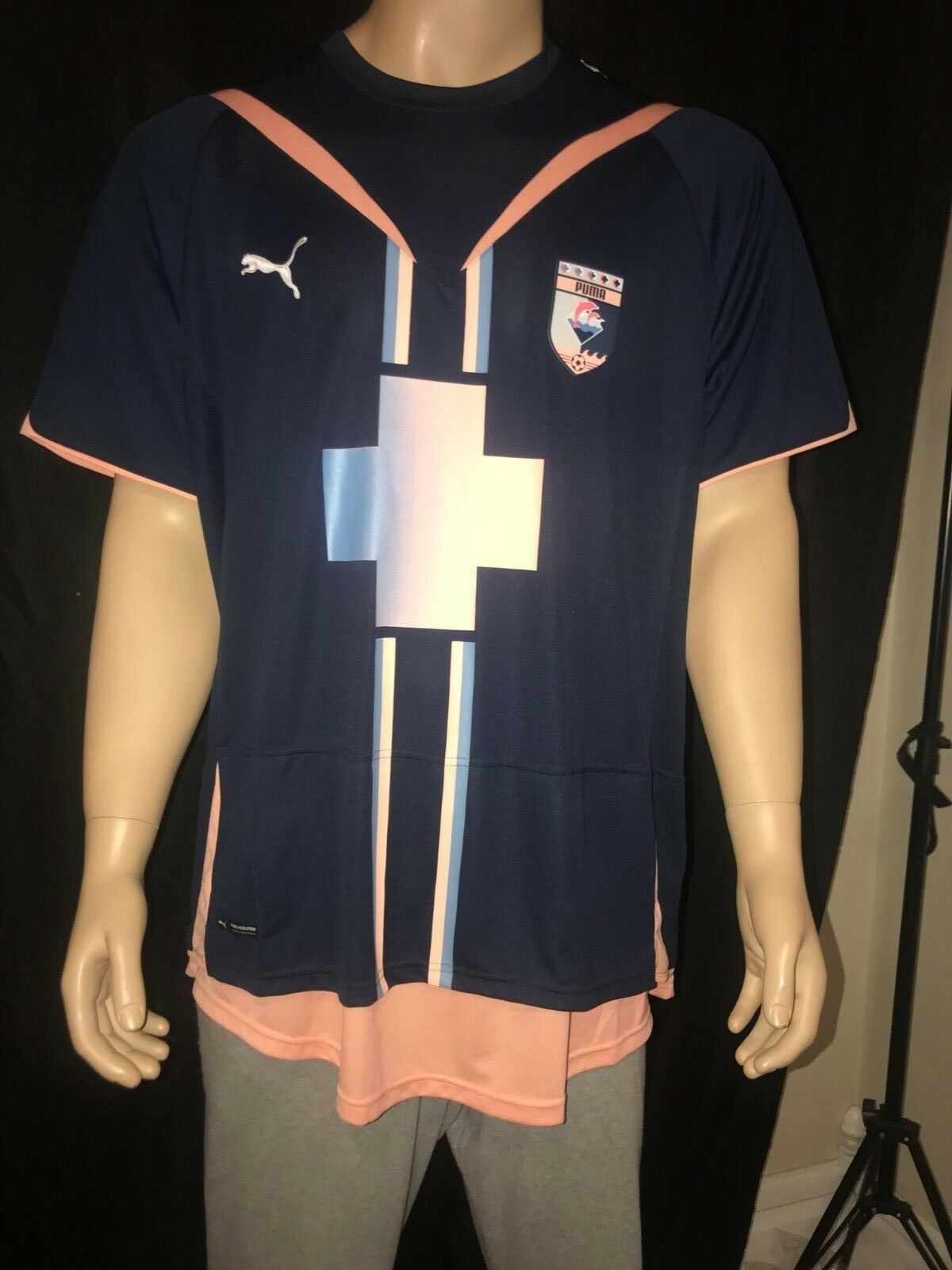 4080791ec Puma x Pink Dolphin Soccer Jersey Rare Size and 50 similar items