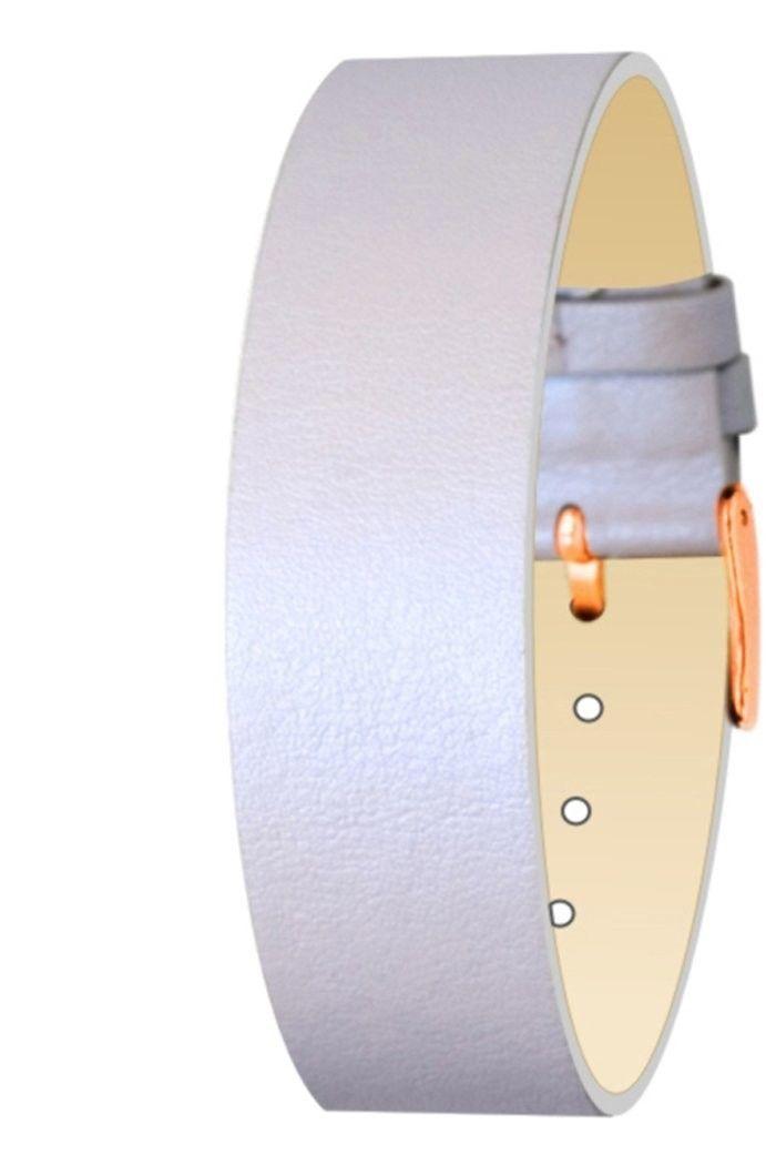 Moog Paris Purple Calf Leather Bracelet for Women, Pearly Pattern, Pin Clasp, 18 - $46.65