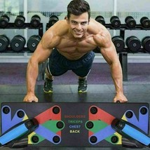 Push Up Rack Board 9 in 1 Body Building Fitness Exercise Tools Men Women... - $20.25