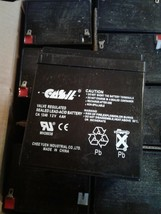 10 CASIL CA-1240 12V 4AH Rechargeable Valve Regulated Sealed Lead Acid Batteries
