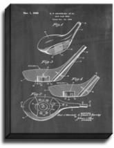 Golf Club Head Patent Print Chalkboard on Canvas - $39.95+