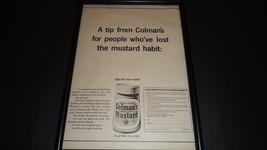 Colmans english mustard-1965 original advert framed - $28.89