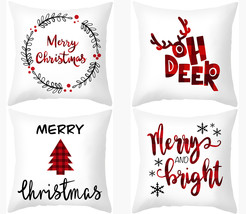 "Christmas Letters Pillowcase,18×18"",Throw Pillow cover,Decorative cushio... - $39.99"