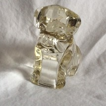 Vintage Clear GLASS Boxer Great Dane Sitting Dog Figurine Hollow EUC - $18.04