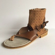 Anthropologie Shoes Womens Coque Terra Leather Thong Sandals 7 - $30.61