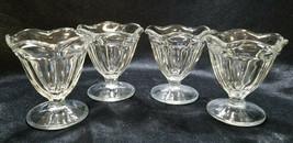 Anchor Hocking Clear Fountainware Low Sherbet Bowls, circa 2000s - $7.88