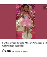 Funtime Sparkle Girlz African American doll with wings! Beautiful $9 - $9.00
