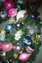Fabulous Retro Christmas Ornament Wreath with lots of Angels and Balls! image 5