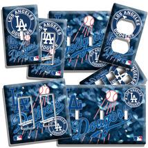 La Los Angeles Dodgers Baseball Team Light Switch Outlet Plate Boy Bedroom Decor - $10.22+