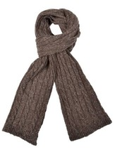 Ferruccio Vecchi Donegal Cable Knit Scarf Brown One Size Made In Italy, ... - $34.65