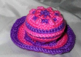 Pink Purple Barrel Pin Cushion Set with Doily, coaster or rug lot custom... - $4.94