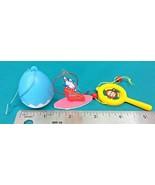 Vintage Sanrio 3 Mini Trinket Lot Toy Egg Monkichi Monkey Cheery Chums B... - $16.95