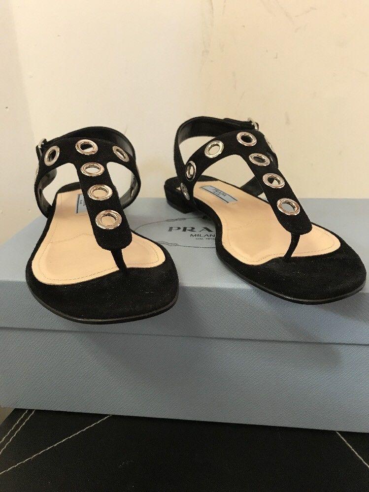 89ba4ca76ccf8 New Prada Suede   Silver Grommet Black and 50 similar items
