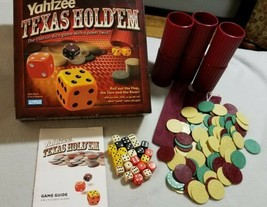 Yahtzee Texas Hold 'Em Board GAME By Parker Brothers Poker Dice Family Fun - $9.69